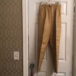 Vintage leather lined pants